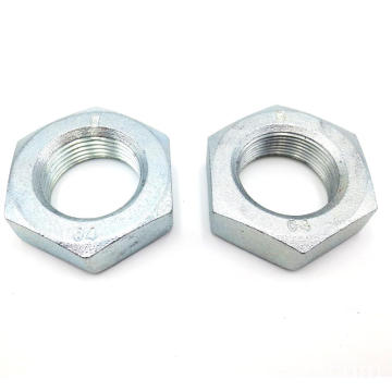 ISO 898-2 Zinc Plated Finish Hexagon Thin Nuts